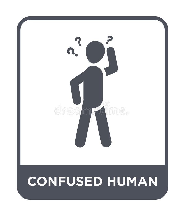 confused human icon in trendy design style. confused human icon isolated on white background. confused human vector icon simple royalty free illustration
