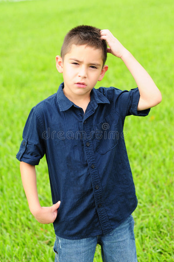 Download Confused kid stock photo. Image of jeans, person, cute - 25212238