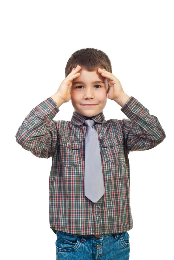 Confused Kid Boy Stock Photography