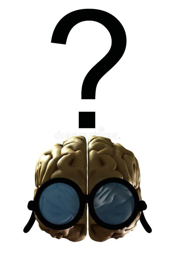 Confused klyftig hjärna royaltyfri illustrationer