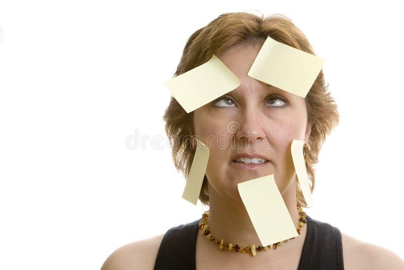 confused kontorsarbetare arkivbild