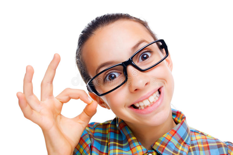 Download Confused little nerd stock photo. Image of child, surprised - 17686678