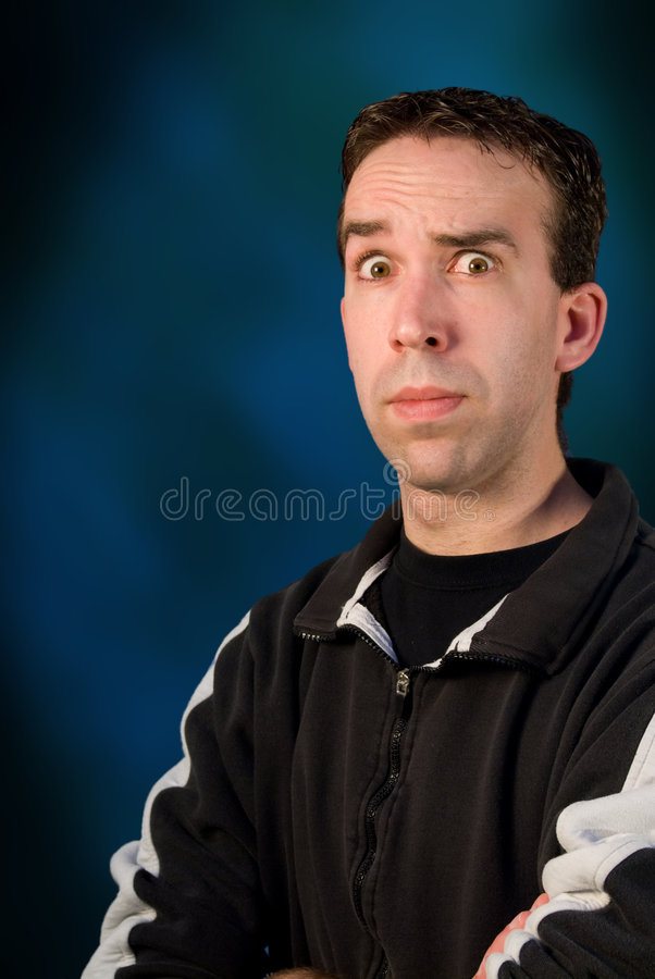 Confused Man royalty free stock images