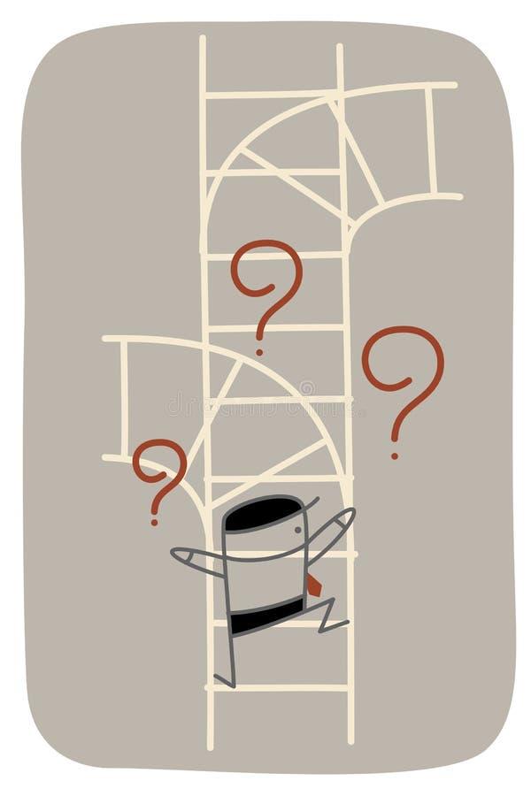 Confused man vector illustration