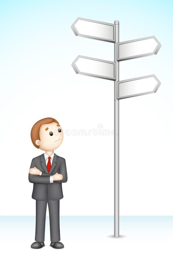 confused man för affär 3d vektor illustrationer