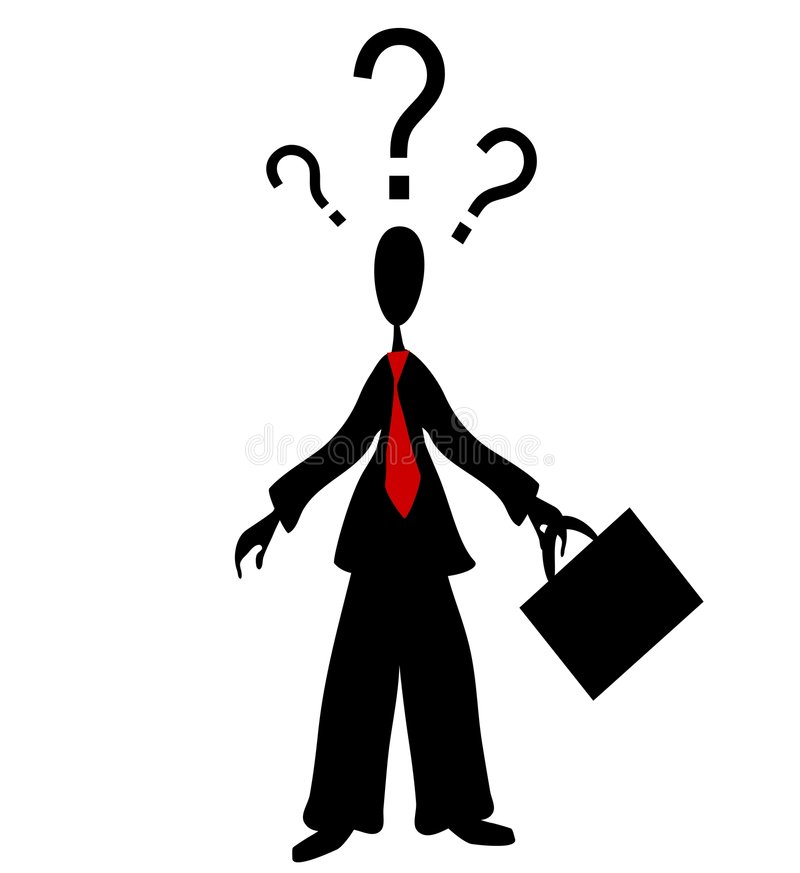 Free Confused Man Question Marks Royalty Free Stock Photos - 3399198