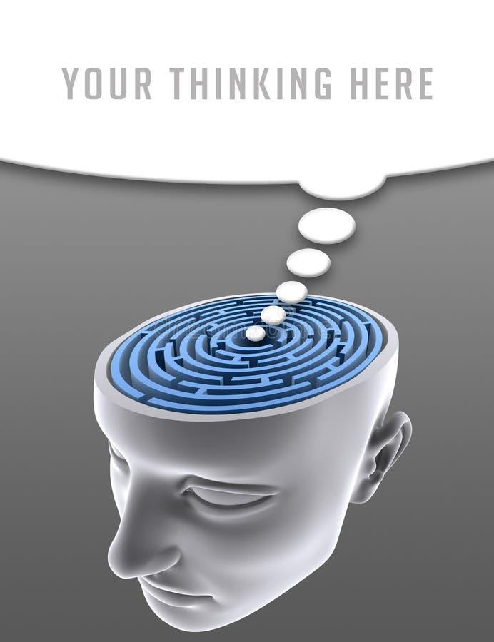Confused Mind royalty free illustration