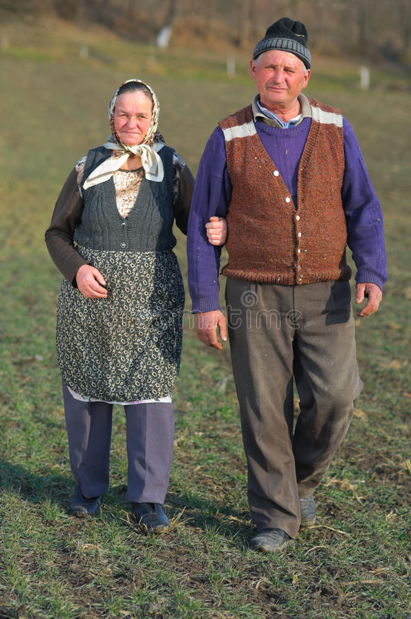Confused old couple stock image