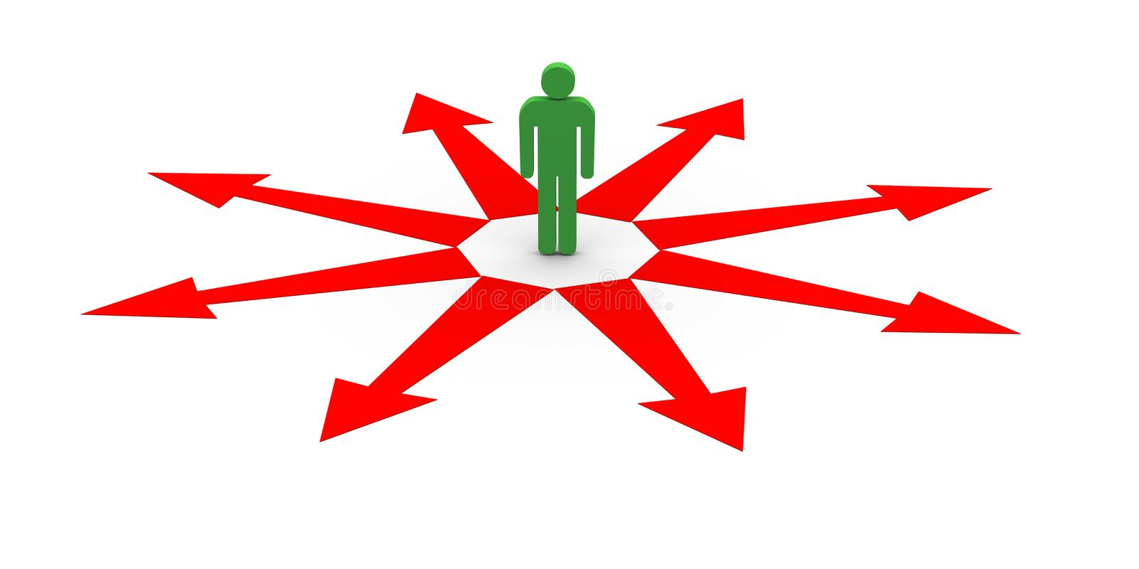 Download Confused person stock illustration. Image of white, arrow - 26770461