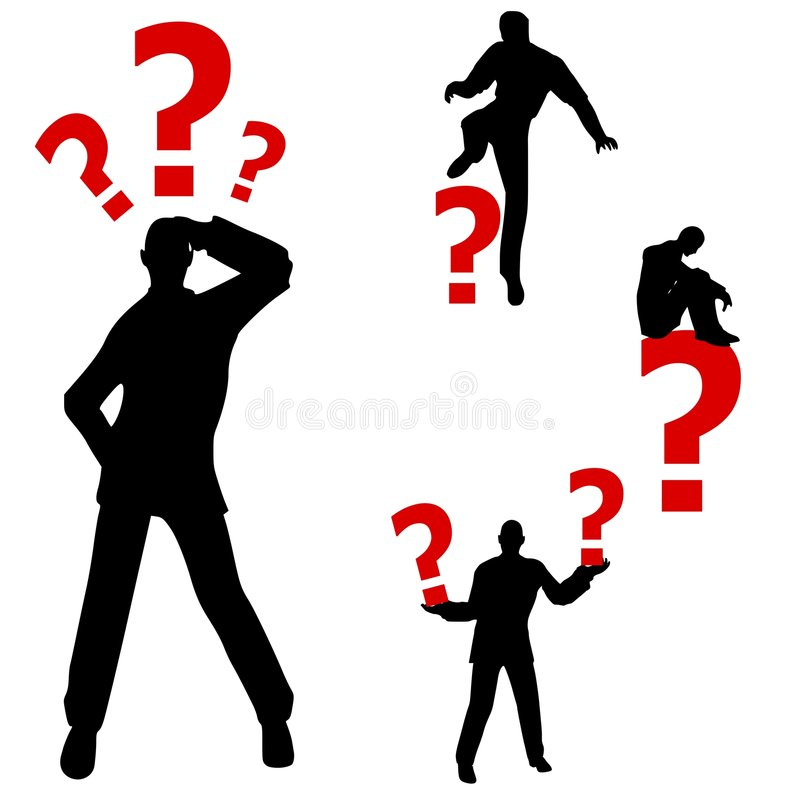 Free Confused Question Mark Man Stock Photo - 4364270