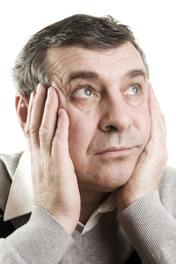 Confused senior man