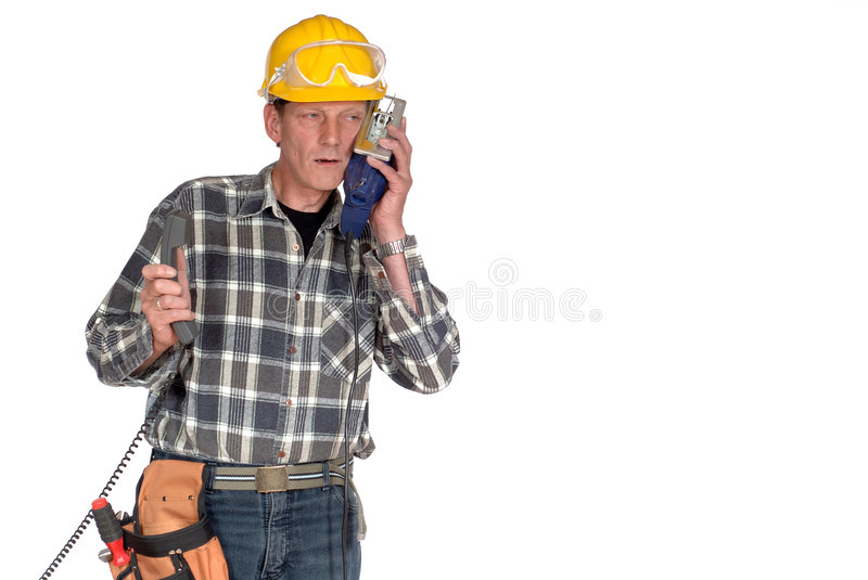 Download Confused, Stressed Handyman Stock Image - Image: 2341353