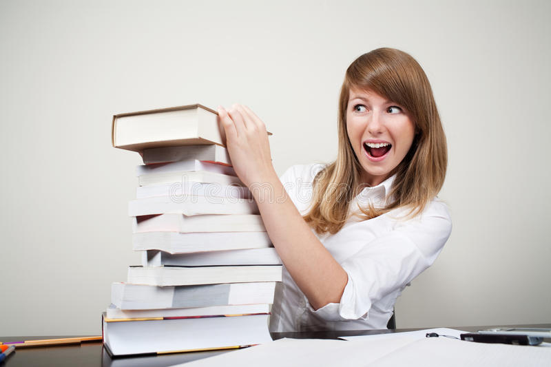 Download Confused student stock photo. Image of young, books, girl - 11446224