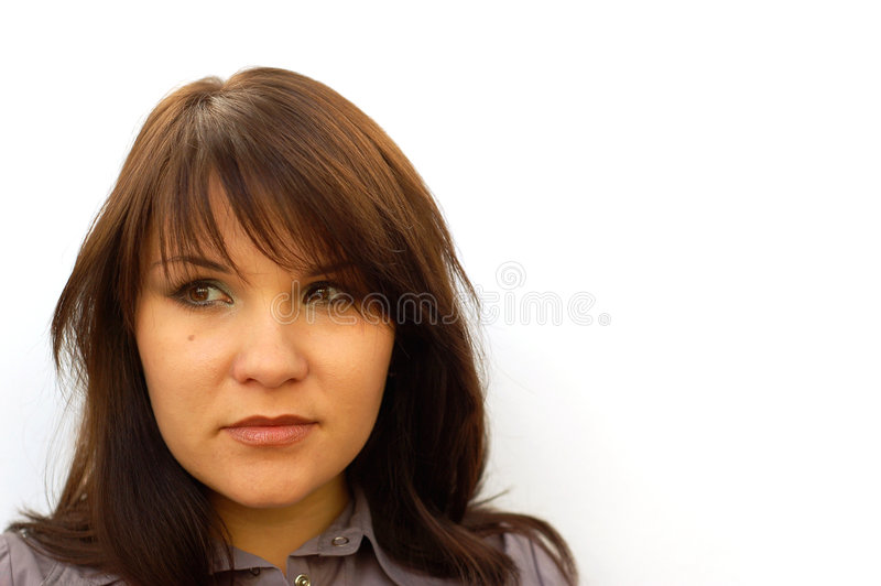 Confused woman #2 royalty free stock photos