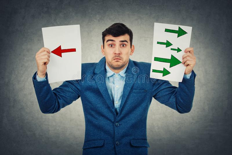 Confused young man stock images