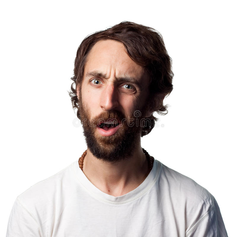 Confused young man royalty free stock images