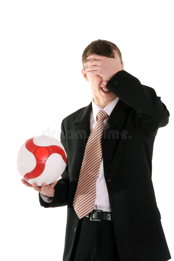 Confusión del encargado del fútbol fotos de archivo