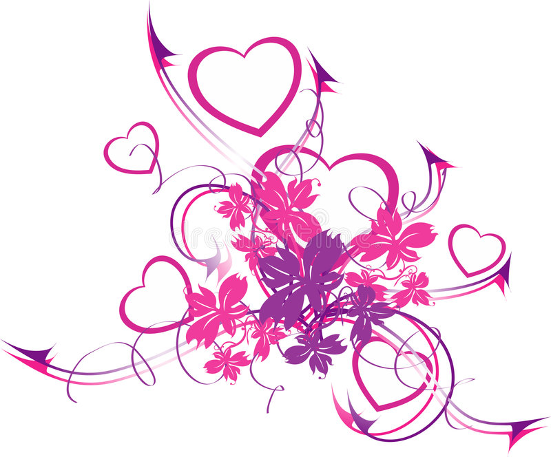 Download The confusing hearts stock vector. Image of shape, illustration - 2832142