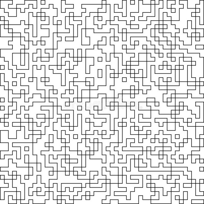 Confusing lines structure of labyrinth with no entrance and exit. Abstract line pattern, texture, background. Vector EPS 10 stock illustration
