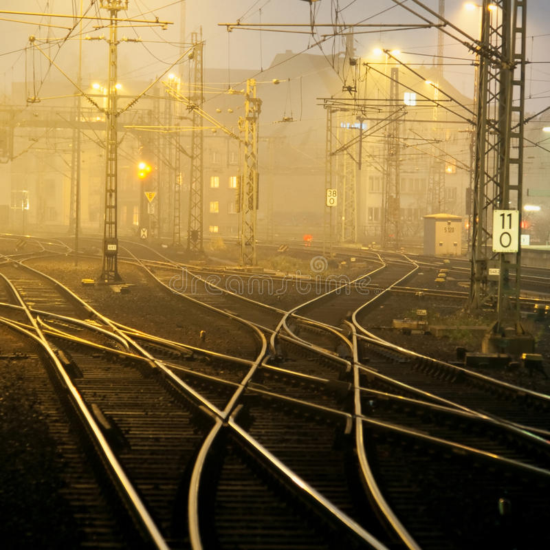 Free Confusing Railway Tracks Stock Image - 13674591
