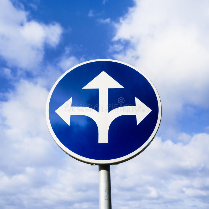 Download Confusing Roadsign Stock Photo - Image: 42072720