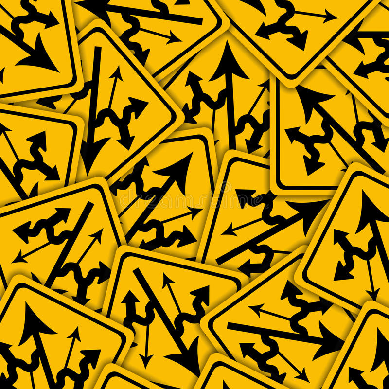 Confusing Signs Royalty Free Stock Images