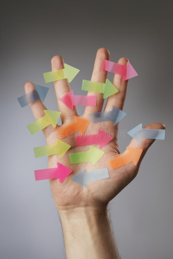 Download Confusion stock photo. Image of fingers, colorful, left - 16089592