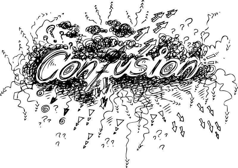 Confusion illustration libre de droits