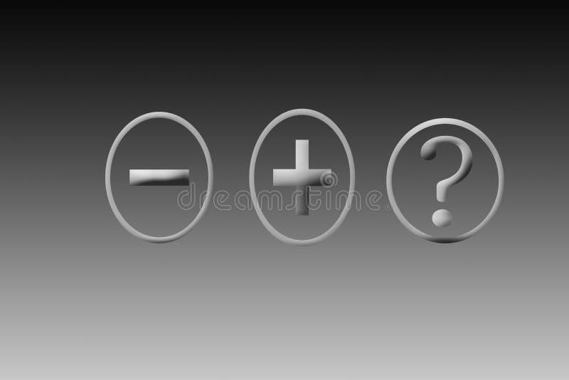 Confusion d'obtenir la réponse Signes de diverses opérations d'isolement illustration de vecteur