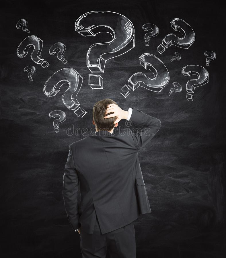 Confusion et concept de FAQ photos stock