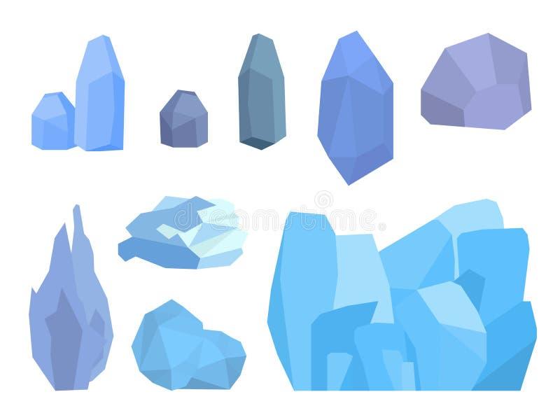 Congères d'isolement réglées de calottes glaciaires, glaçons illustration stock