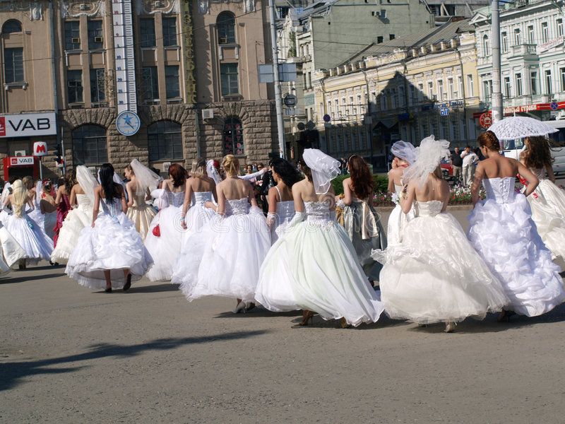 Congé de fiancées photos stock