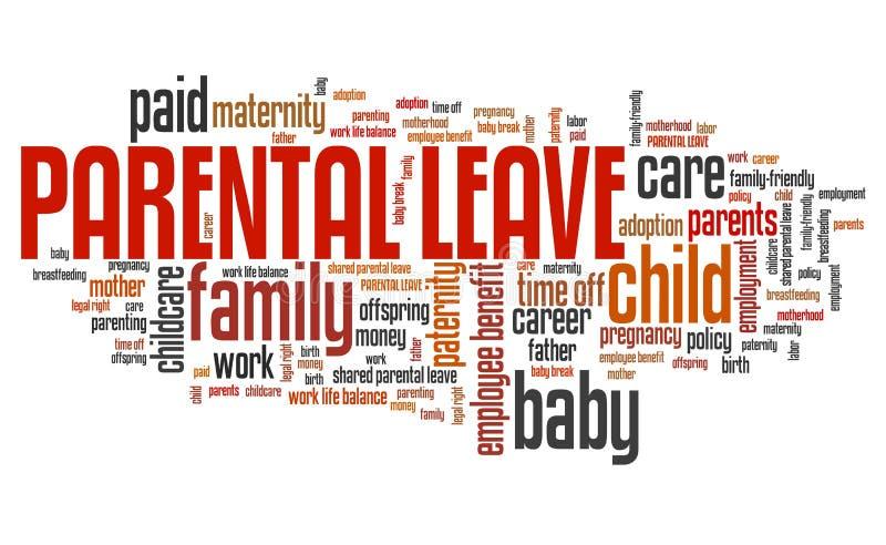Congé parental illustration libre de droits