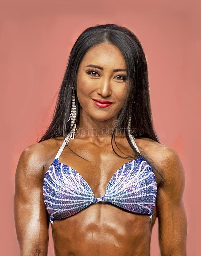 Fitness Athlete in Bikini at 2019 Toronto Pro Supershow stock image