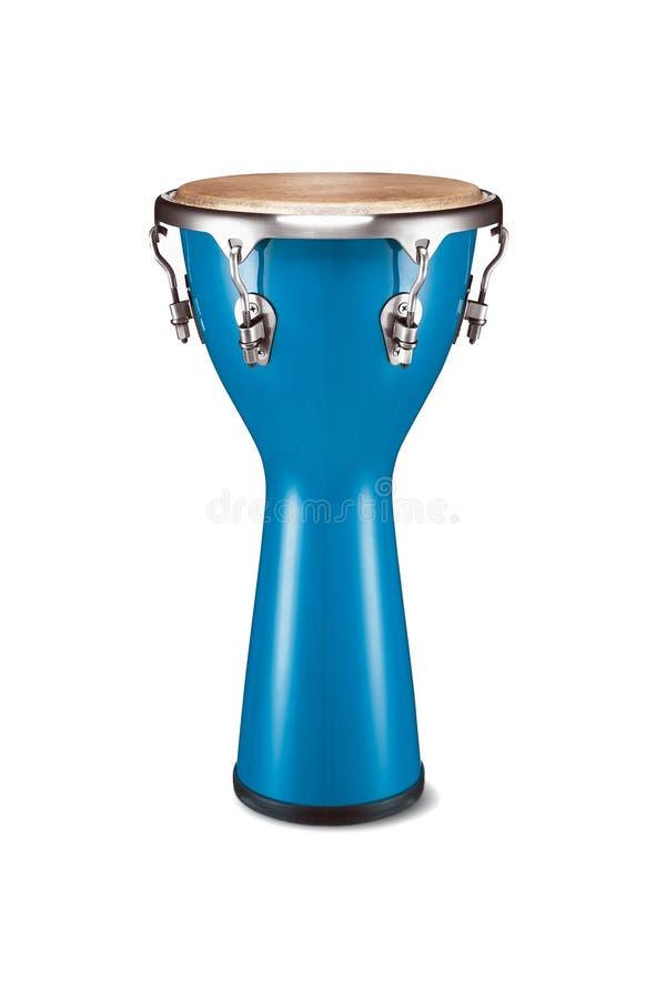 Conga do azul da percussão foto de stock royalty free