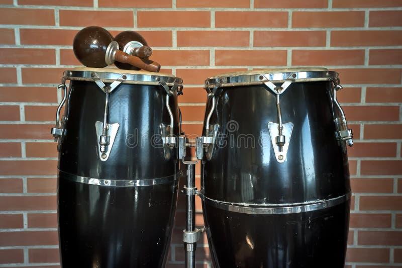 Congas i marakasy zdjęcie royalty free