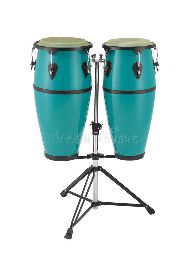 Congas percussion set stock images