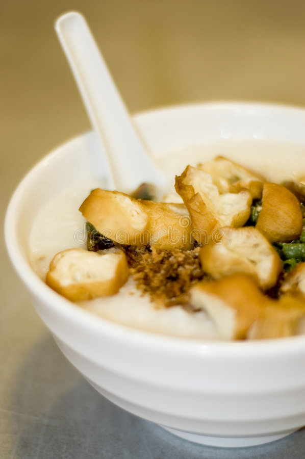 Congee in a bowl stock image