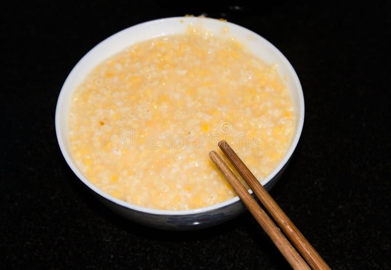 Congee de millet image stock