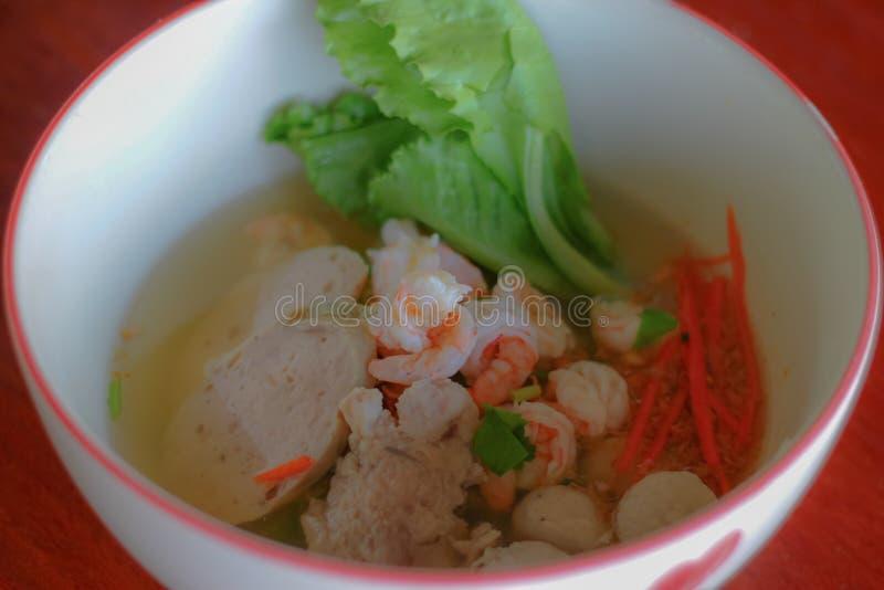 Congee do arroz misturado com a carne foto de stock