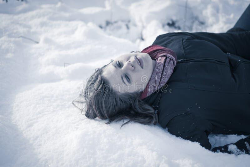Congelé à la mort image libre de droits