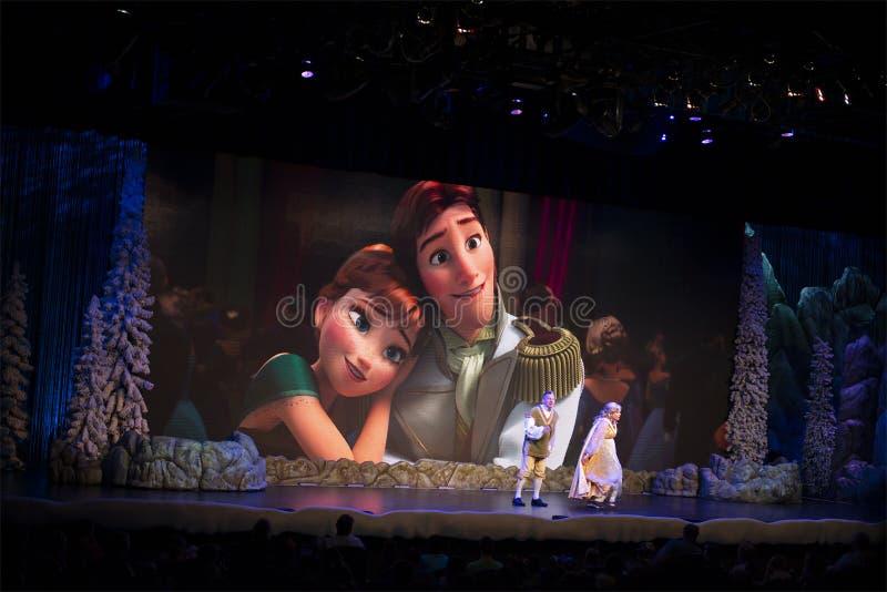 Congelado, Disney World, curso, estúdios de Hollywood fotos de stock