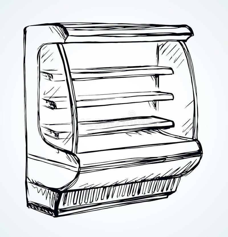 Congelador a armazenar Desenho do vetor ilustração do vetor