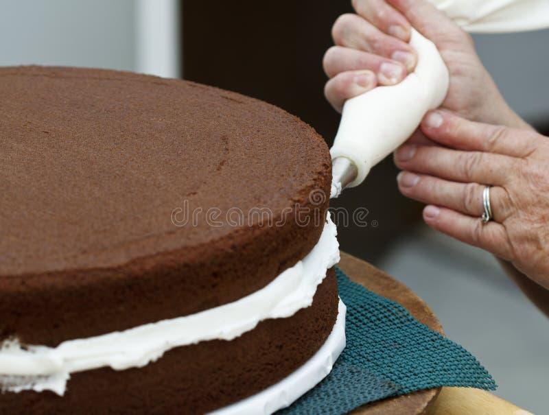 Congelando o bolo imagens de stock