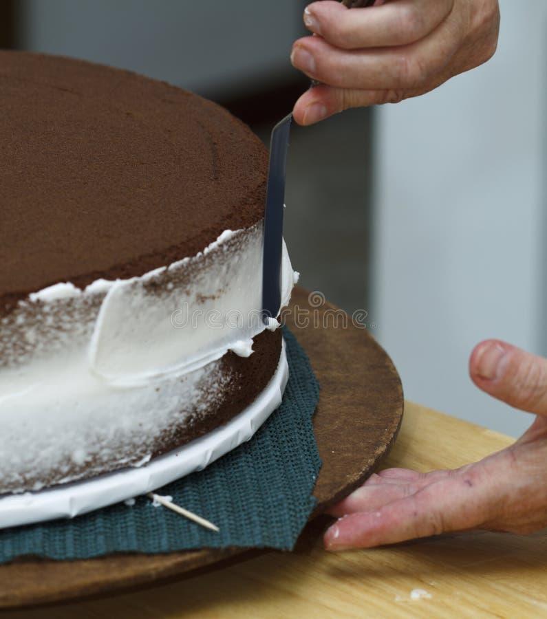 Congelando o bolo imagem de stock