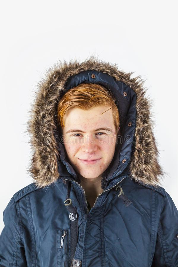 Congelatore in abiti invernali fotografie stock