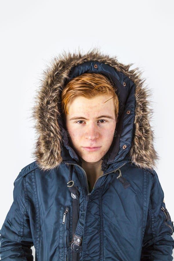 Congelatore in abiti invernali immagine stock libera da diritti