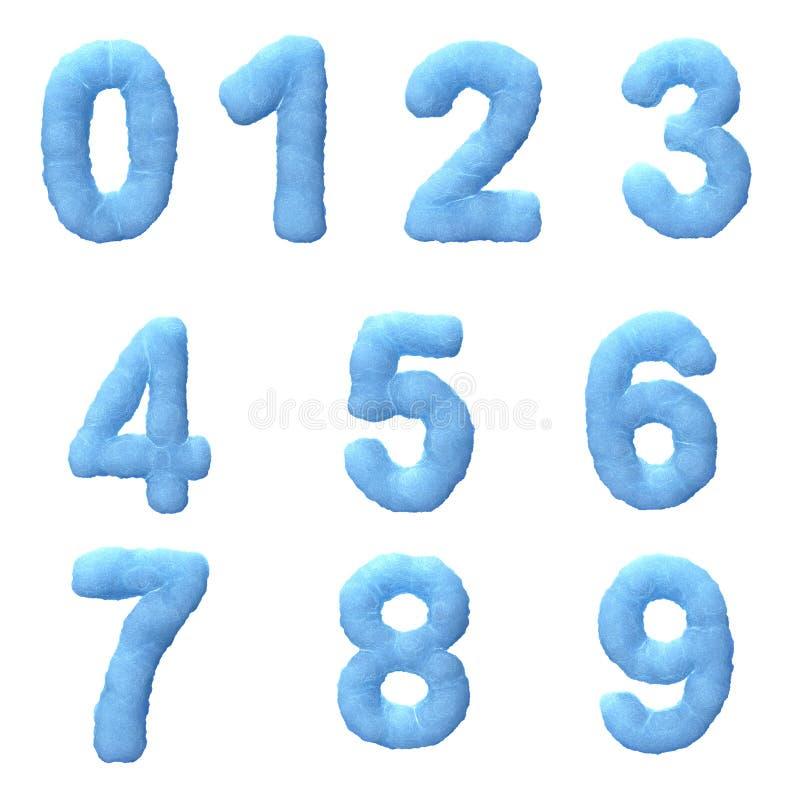 Congele números ilustração royalty free