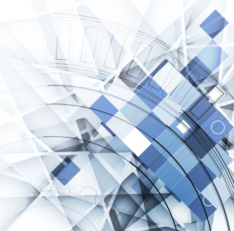 Congele o fundo abstrato da tecnologia com linhas textura de para ilustração do vetor