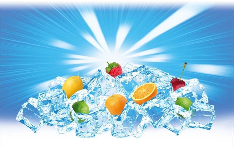 Congele o monte das frutas fotografia de stock